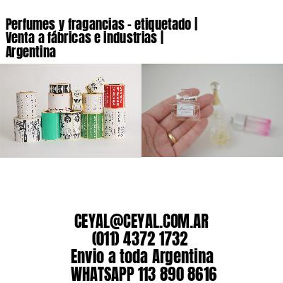 Perfumes y fragancias - etiquetado | Venta a fábricas e industrias | Argentina