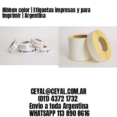 Ribbon color   Etiquetas impresas y para imprimir   Argentina