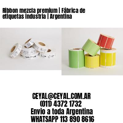 Ribbon mezcla premium | Fábrica de etiquetas industria | Argentina