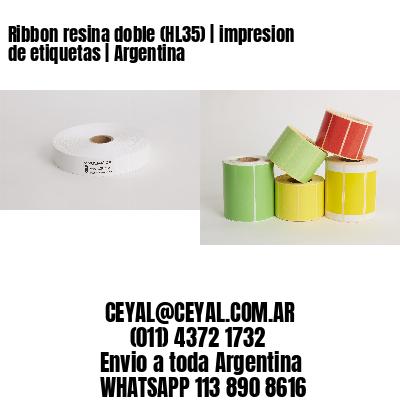 Ribbon resina doble (HL35) | impresion de etiquetas | Argentina