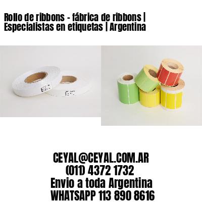 Rollo de ribbons - fábrica de ribbons | Especialistas en etiquetas | Argentina