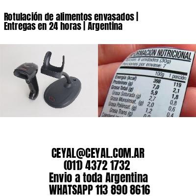 Rotulación de alimentos envasados | Entregas en 24 horas | Argentina