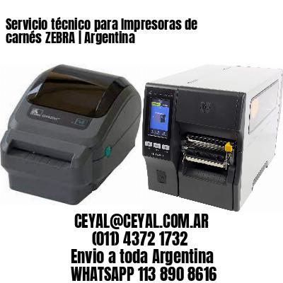 Servicio técnico para Impresoras de carnés ZEBRA   Argentina