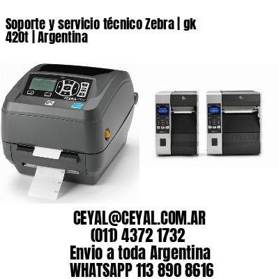 Soporte y servicio técnico Zebra   gk 420t   Argentina
