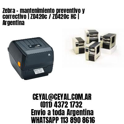 Zebra – mantenimiento preventivo y correctivo | ZD420c / ZD420c‑HC | Argentina