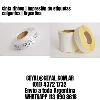 cinta ribbon   Impresión de etiquetas colgantes   Argentina