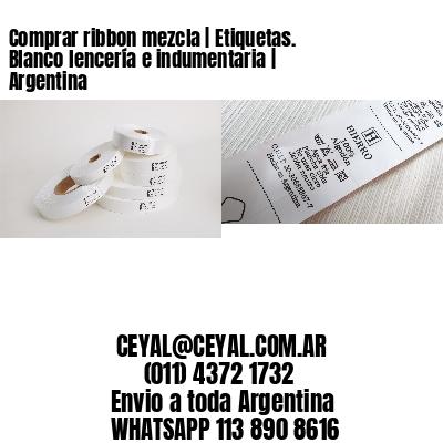 Comprar ribbon mezcla | Etiquetas. Blanco lencería e indumentaria | Argentina