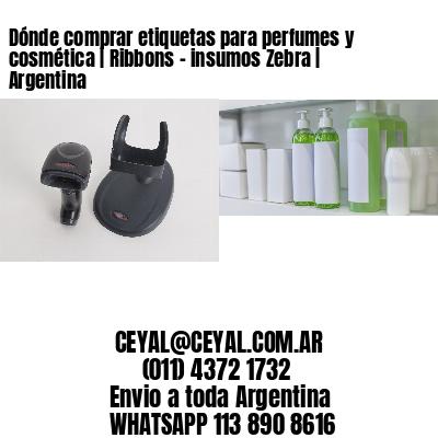 Dónde comprar etiquetas para perfumes y cosmética   Ribbons - insumos Zebra   Argentina