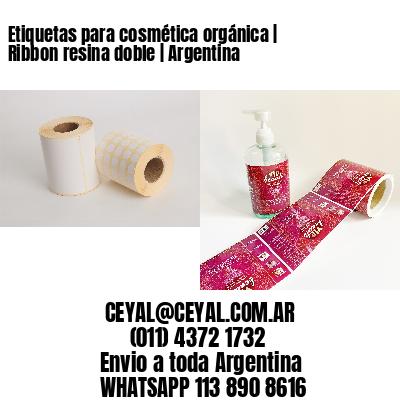 Etiquetas para cosmética orgánica   Ribbon resina doble   Argentina