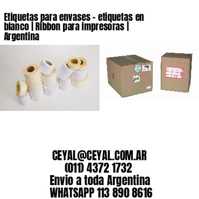 Etiquetas para envases - etiquetas en blanco   Ribbon para impresoras   Argentina