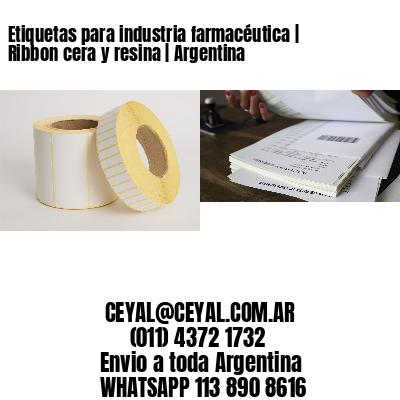 Etiquetas para industria farmacéutica   Ribbon cera y resina   Argentina