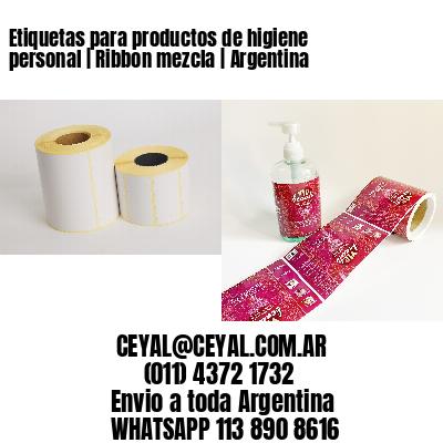 Etiquetas para productos de higiene personal   Ribbon mezcla   Argentina