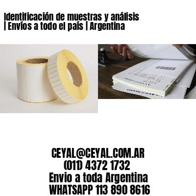 Identificación de muestras y análisis | Envíos a todo el país | Argentina