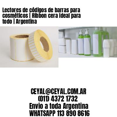 Lectores de códigos de barras para cosméticos   Ribbon cera ideal para todo   Argentina