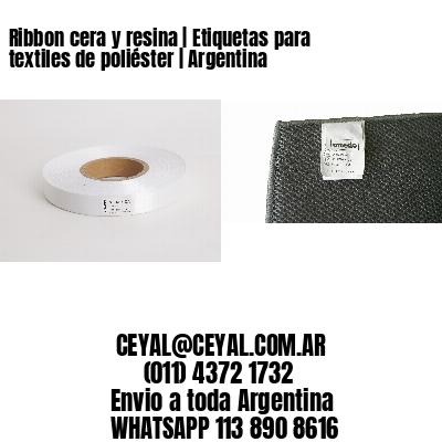 Ribbon cera y resina | Etiquetas para textiles de poliéster | Argentina