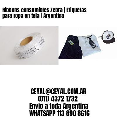 Ribbons consumibles Zebra | Etiquetas para ropa en tela | Argentina