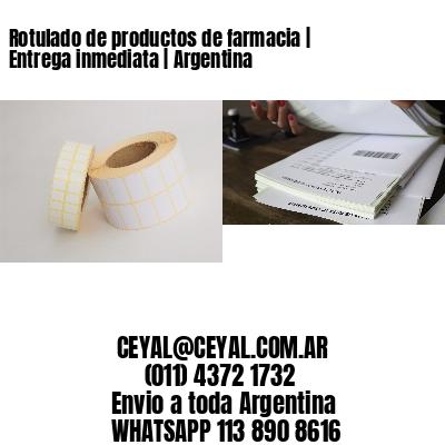 Rotulado de productos de farmacia | Entrega inmediata | Argentina